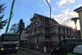 Betonieren einer Treppenhausdecke
