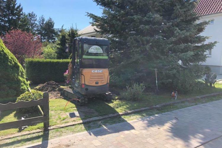 Herstellen eines Behelfsparkplatzes